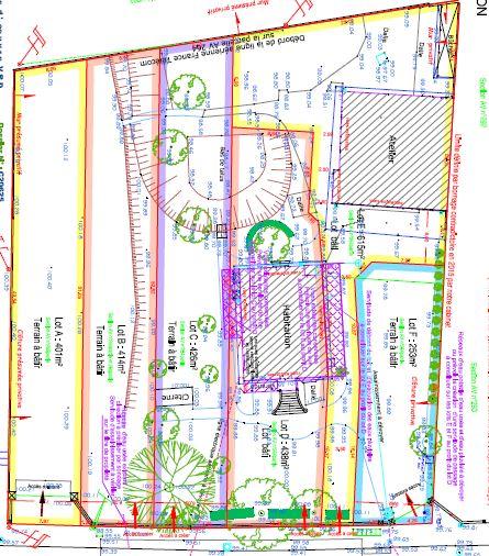 78 Trappes plan division Division Promoteur Lotisseur operation de lotissement a trappes dans les yvelines la fonciere du chateau
